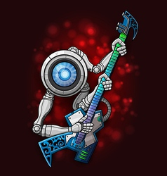 white robot with guitar vector image