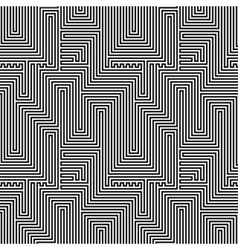 Abstract lines seamless pattern Optic vector image