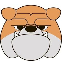 Funny Bulldog vector image