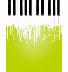 piano flow vector image