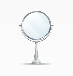 realistic mirrors set mirror frames or vector image vector image