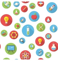 Seamless pattern with science icons vector image vector image