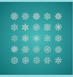 white snowflakes icon on gradient background vector image