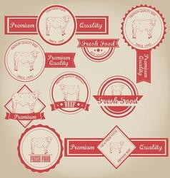Beef Vintage Label vector image vector image