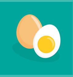 eggs flat icon vector image vector image