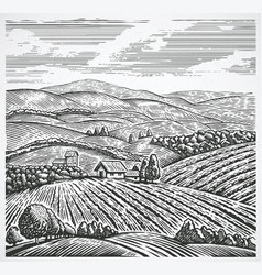 graphical landscape vector image