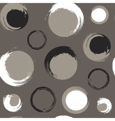 Grunge circles on grey brown or taupe background vector