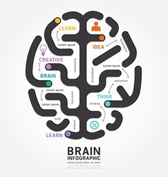 infographics brain design diagram line style vector image