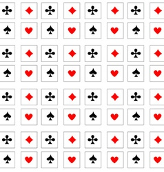 Pattern playing cards vector image