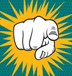 POPART FIST4 vector image vector image