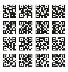 qr codes set example icons on white background vector image vector image