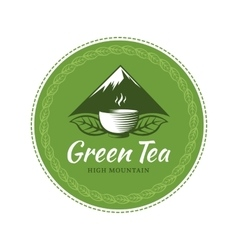 Tea label vector image vector image
