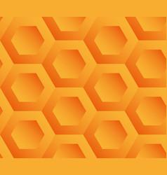 abstract background orange hexagons vector image vector image