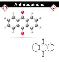 anthraquinone chemical structure quinone class vector image vector image