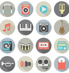 Flat Design Musical Icons vector image vector image