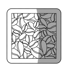 Natural coffee beans vector