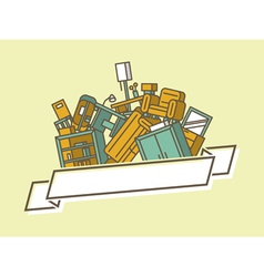 Pile of furniture vector image vector image