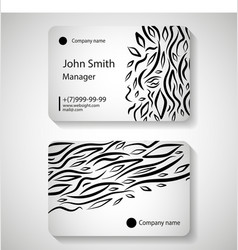 stylish business card template vector image vector image