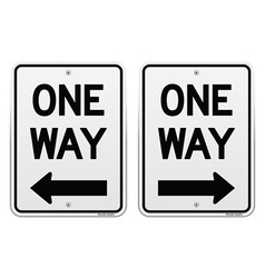 White One Way Signs vector image vector image