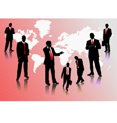 0214businessmen silhouettes vector image