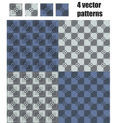 3d square and circle pattern 4x1 gray-dark blue vector
