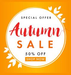 autumn sale background banner vector image