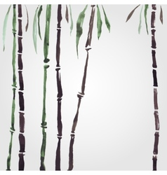 Bamboo in Chinese style vector image
