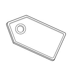blanck label vector image