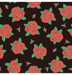 Bouquets of roses Seamless pattern vector