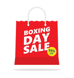 Boxing day sale shopping bag vector