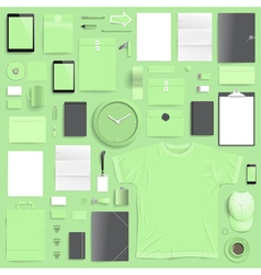 branding mockup lime set vector image
