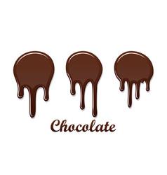 Chocolate drip splash set chocolate liquid blot vector