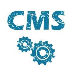 CMS grunge icon vector