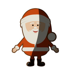 Colorful silhouette of santa claus waiting for hug vector