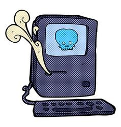 Computer virus comic cartoon vector