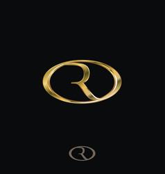 Creative luxury letter r logo concept design vector