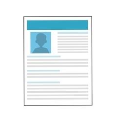 curriculum vitae icon vector image