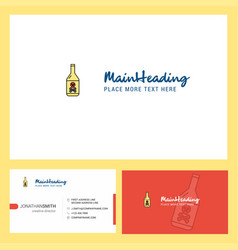 drink bottle logo design with tagline front and vector image