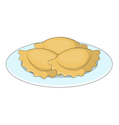 Empanadas meat pie icon cartoon style vector