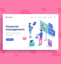 Financial management concept office people vector