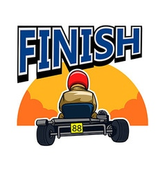Finish Gokart Race vector image