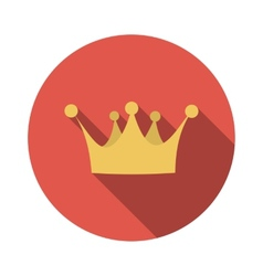 Flat Design Concept Crown With Long Shadow vector