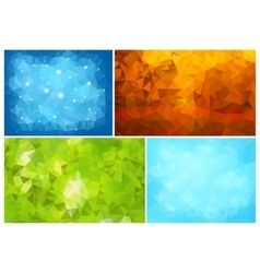 Four Abstract Backgrounds vector image