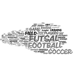 Futsal word cloud concept vector