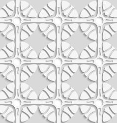 Geometric flowers on gray seamless vector