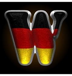 Germany metal figure w vector