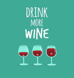 glasses wine vector image
