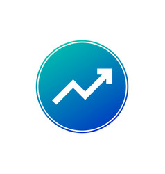 graph diagram white symbol in blue circle with vector image