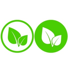 Green leaf icons vector