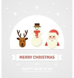 Greeting Christmas Card New Year characters vector